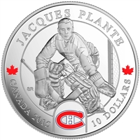 2015 Canada $10 Goalies: Jacques Plante Fine Silver (No Tax)