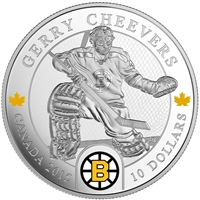 2015 Canada $10 Goalies: Gerry Cheevers Fine Silver (No Tax)