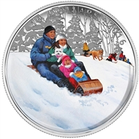 RDC 2016 Canada $10 Winter Fun Fine Silver Coin (TAX Exempt) Outer Box Worn