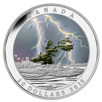 2015 Canada $20 Weather Phenomenon - Summer Storm Fine Silver (No Tax)