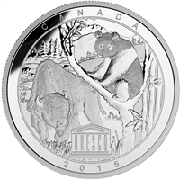 2015 Canada $20 UNESCO: Wood Buffalo & Sichuan Giant Panda (No Tax)