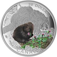 2016 Canada $20 Baby Animals - Porcupine Baby Fine Silver (No Tax)