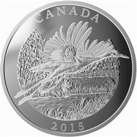 2015 Canada $125 Conservation - Whooping Crane Fine Silver (No Tax)