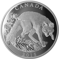 2015 Canada $125 Conservation Series - The Grey Fox Silver (No Tax)