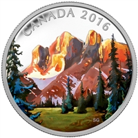 RDC 2016 Canada $20 Canadian Landscapes - The Rockies Fine Silver (No Tax) Worn Sleeve