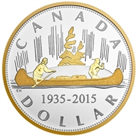 2015 Canada $1 The Voyageur Renewed Silver Dollar Fine Silver (No Tax)