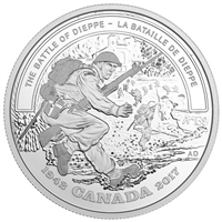 2017 Canada $20 WWII Battlefront - The Battle Of Dieppe (No Tax)