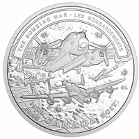 2017 Canada $20 WWII Battlefront - The Bombing War Fine Silver
