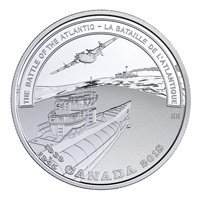2018 Canada $20 WWII Battlefront - The Battle of the Atlantic Fine Silver (No Tax)