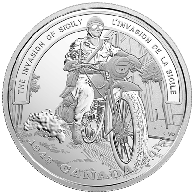 2018 Canada $20 WWII Battlefront Series - Invasion of Sicily Fine Silver (No Tax)