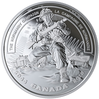 RDC 2019 Canada $20 WWII Battlefront Normandy Campaign Silver (No Tax) Dented Sleeve