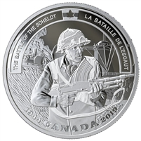 2019 Canada $20 WWII Battlefront Series - The Battle of the Scheldt Fine Silver