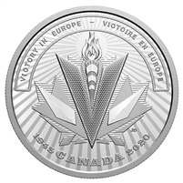 2020 Canada $20 WWII Battlefront Series - Victory in Europe Fine Silver (No Tax)
