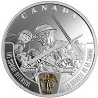 2016 Canada $20 WWI Battlefront - Somme Offensive Fine Silver (No Tax)