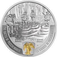 2017 Canada $20 WWI Battlefront - The Battle of Passchendaele Fine Silver (No Tax)