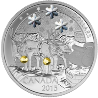 RDC 2015 Canada $20 Holiday Reindeer Fine Silver Coin (No Tax) Dented Sleeve