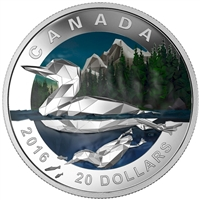 2016 Canada $20 Geometry In Art - The Loon Fine Silver (No Tax)