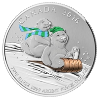 2016 Canada $25 Winter Fun ($25 for $25 #2) Fine Silver (No Tax)