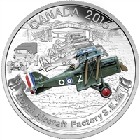 2016 Canada $20 WWI Aircraft - The Royal Aircraft Factory S.E.5A (No Tax)