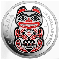 2016 Canada $50 Mythical Realms of the Haida - Bear 5oz. Silver (TAX Exempt)
