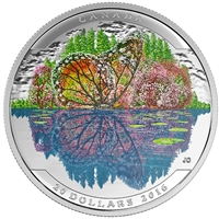 2016 Canada $20 Landscape Illusion: The Butterfly Fine Silver (No Tax)