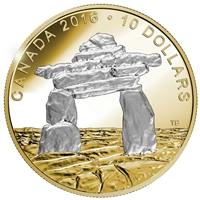 2016 Canada $10 Iconic Canada - Inukshuk Fine Silver (TAX Exempt)