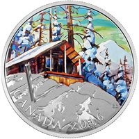 2016 Canada $20 Canadian Landscapes - Ski Chalet Fine Silver (No Tax)