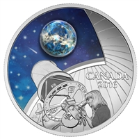 2016 Canada $20 The Universe Glass with Opal Glow-In-Dark Silver (No Tax)