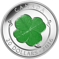 RDC 2016 Canada $20 Four-Leaf Clover Fine Silver (No Tax) Impaired