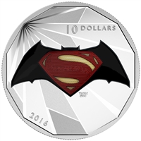 2016 Canada $10 Batman VS Superman Dawn of Justice - Logo Silver (No Tax)