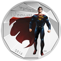 2016 Canada $10 Batman VS Superman Dawn of Justice - Superman (No Tax)