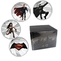 2016 Canada $10 Batman VS Superman: Dawn of Justice 4-Coin Set in Deluxe Display (No Tax)