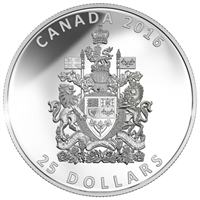 RDC 2016 Canada $25 Piedfort - Canadian Coat of Arms (No Tax) Scratches on Capsule