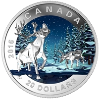 2016 Canada $20 Geometry In Art - The Caribou Fine Silver (No Tax)