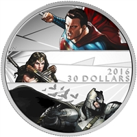 2016 Canada $30 Batman VS Superman Dawn of Justice Silver (No Tax)