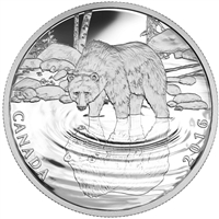 2016 Canada $10 Reflections of Wildlife - Grizzly Bear Silver (No Tax)