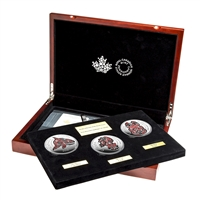 2016 Canada 5oz. Mythical Realms of the Haida 3-coin Set (No Tax) Scratched Capsule