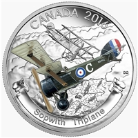 2016 Canada $20 Aircraft of WWI - The Sopwith Triplane (TAX Exempt)