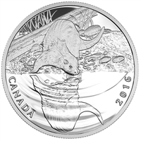 2016 Canada $10 Reflections of Wildlife - Otter Fine Silver (No Tax)