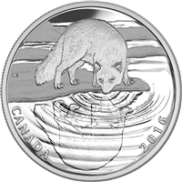 RDC 2016 Canada $10 Reflections of Wildlife - Arctic Fox Silver (No Tax) Impaired