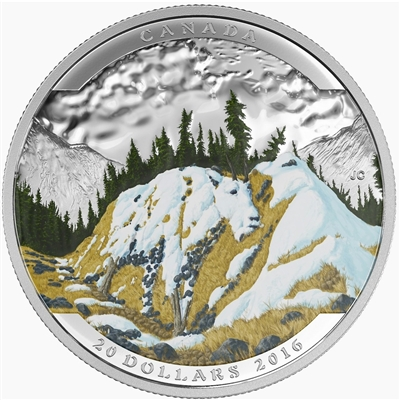 2016 Canada $20 Landscape Illusion - Mountain Goat (No Tax)