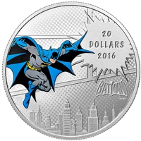 RDC 2016 Canada $20 DC Comics Originals - The Dark Knight Silver (No Tax) - Scuff