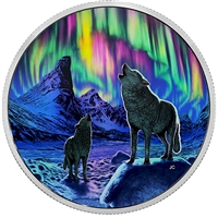 2016 Canada $30 Northern Lights In The Moonlight Fine Silver (No Tax)