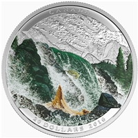 2016 Canada $20 Landscape Illusion - Salmon Fine Silver (No Tax)