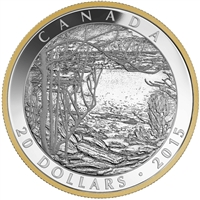 2015 Canada $20 Tom Thomson - Spring Ice (1916) Fine Silver (No Tax)