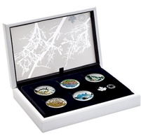 2016 Canada $20 Landscape Illusion 5-Coin Set & Deluxe Case (No Tax)