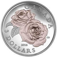 2016 Canada $3 Queen Elizabeth Rose Fine Silver (No Tax)