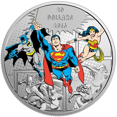 2016 Canada $20 DC Comics Originals - The Trinity Fine Silver (No Tax)