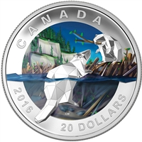 2016 Canada $20 Geometry In Art - The Beaver Fine Silver (No Tax)