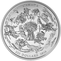 2016 Canada $200 for $200 Vast Prairies (#3) Fine Silver (No Tax)